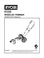 Ryobi rft254n manual 1