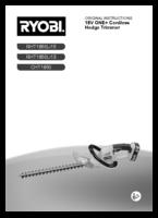 Ryobi cblht18lc manual 2