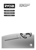 Ryobi cht1850 manual 1