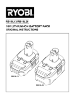 Ryobi r18ck2 ll13g manual 3