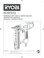 Ryobi ra nb1664 s user manual