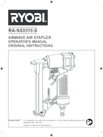Ryobi ra ns8016 s user manual