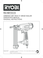 Ryobi ra nb1832 s user manual