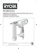 Ryobi ra nbs1832 s user manual