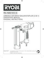 Ryobi ra nbs1664 s user manual