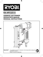 Ra np2325 s   pin nailer   operator s manual