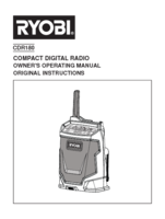 Ryobi cdr180g manual 1