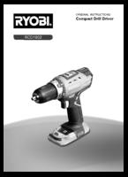 Ryobi r18dd ll99s manual 1