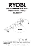 Ryobi rbv2200vp manual 1