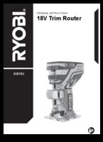 Ryobi r18tr2 user manual