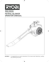 Ryobi rbl26gn user manual