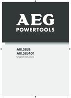 Aeg abl58j401 user manual