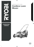 Ryobi rlm18x33s40 manual