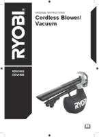 Ryobi rbv1840  user manual