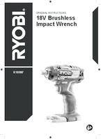 Ryobi r18iw7 user manual