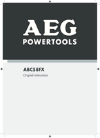 Aeg abc58fx manual 1
