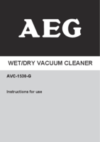 Aeg avc 1530 g manual 1
