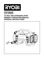 Ryobi clt1800g manual 1