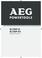 Aeg bl18dp x5 manual 1