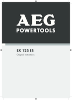 Aeg ex125es manual 1