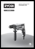 Ryobi rpd800 k manual 1