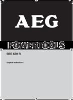 Aeg sbe630r manual 1