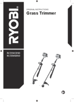 Ryobi rlted254o user manual