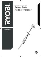Ryobi rpht254o user manual