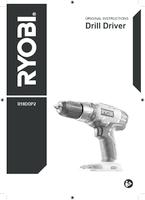 Ryobi r18ddp2 0 manual