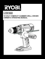 Ryobi lcdl1802g manual 1