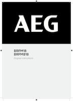 Aeg brfmb18 0 user manual