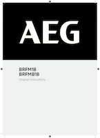 Aeg brfm18 0 user manual