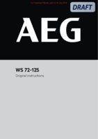 Aeg ws72 125 user manual