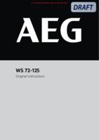 Aeg ws72 125 user manual