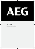 Aeg pl700 user manual