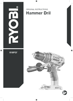 Ryobi  r18pd7 user manual