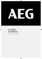 Aeg alm18b user manual