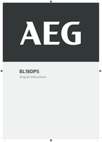 Aeg bl18dps user manual