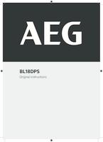 Aeg bl18dps user manual