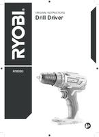 Ryobi r18dd3 h25fn user manual