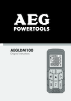 Aeg aegldm100 user manual