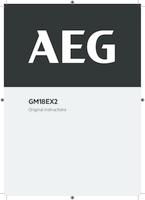 Aeg gm18ex2 user manual