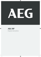 Aeg abl18f user manual