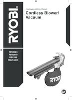 Ryobi rbv3640 user manual