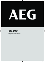 Aeg abl58bp user manual