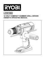 Ryobi r18pd ll99s manual 1
