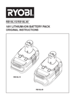 Ryobi r18id ll99s manual 2