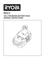 Ryobi r18pd ll13g manual 2